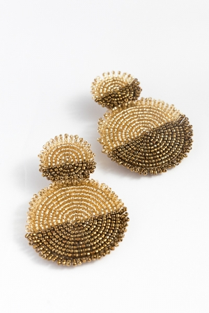 Double Gold Discs Earring