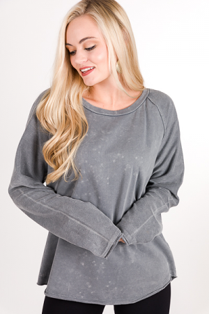 Edgy Pullover, Washed Grey