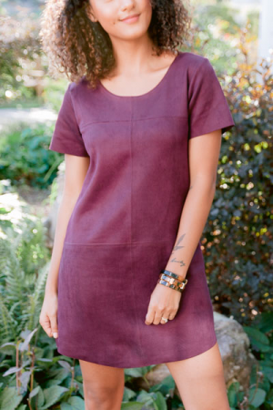 Bella Suede Dress, Wine