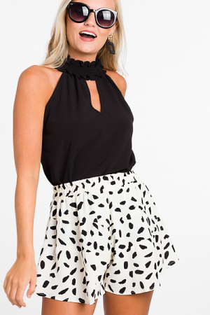 Dalmation Swing Shorts, Ivory