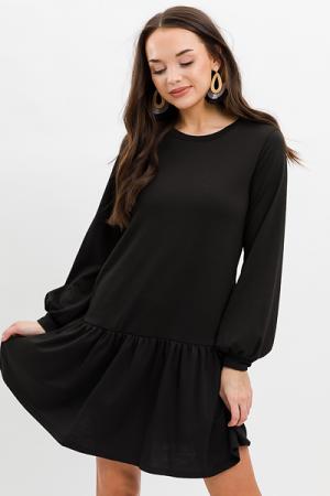 Drop Waist Pocket Dress, Black
