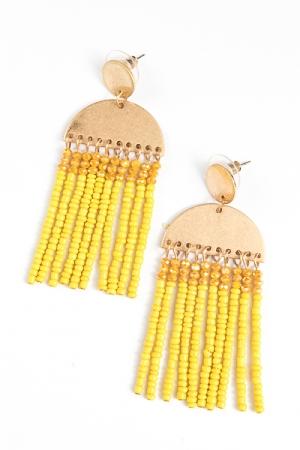 Sunset Tassel Earrings, Yellow