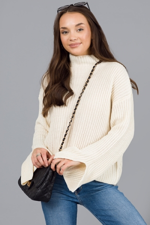 Piper Crop Sweater, Ivory