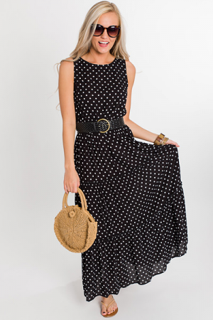 Tiers of Dots Maxi, Black