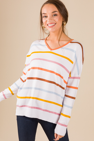 Color The Lines Sweater
