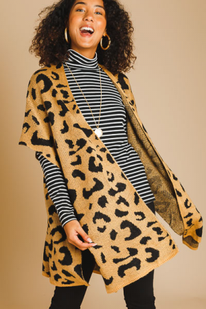 Cheetah Sweater Wrap
