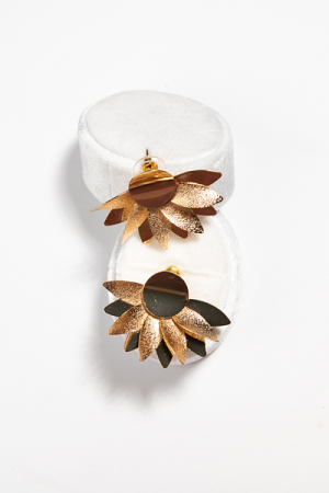 Fanned Petal Earrings