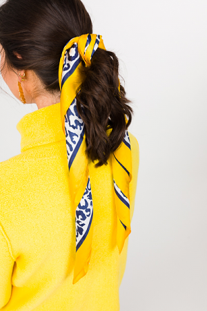 Leopard Hair Scarf, Yellow