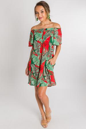 Tomato Palm Dress
