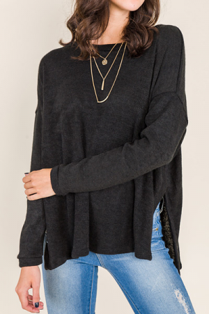 Boxy Murphy Sweater, Black