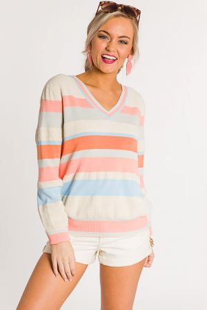 Walk in the Park Stripe Sweater