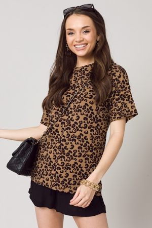 Leopard Jersey Soft Tee