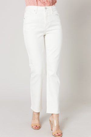 Straight Jeans, Off White