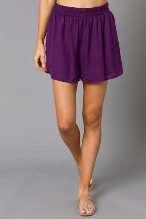 Woven Adri Shorts, Plum