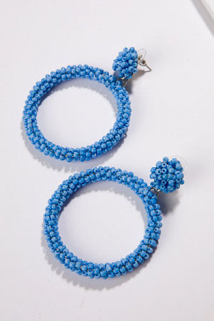 Trapeze Earrings, Periwinkle