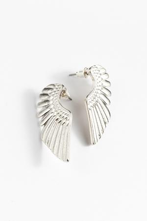 Angel Wing Earring, Silver
