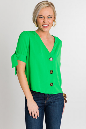 Limeade Button Blouse