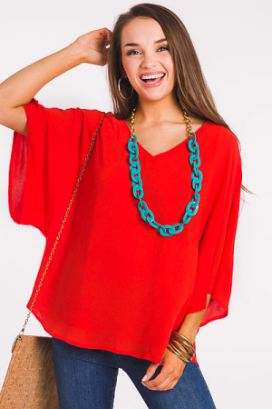 Light As Air Blouse, Tomato