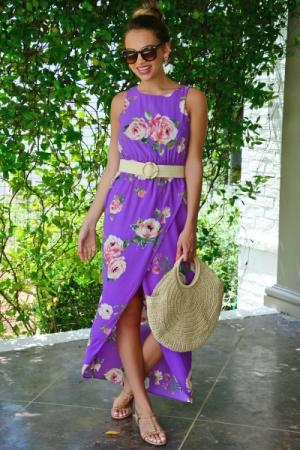 Lavender Floral Maxi