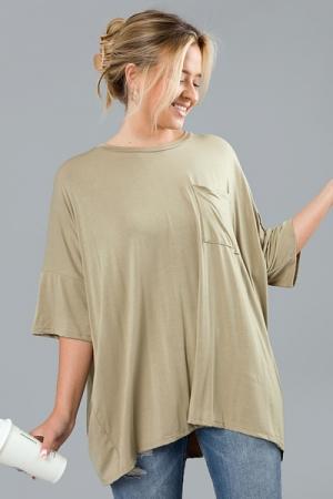 Oversize Olive Knit Tunic