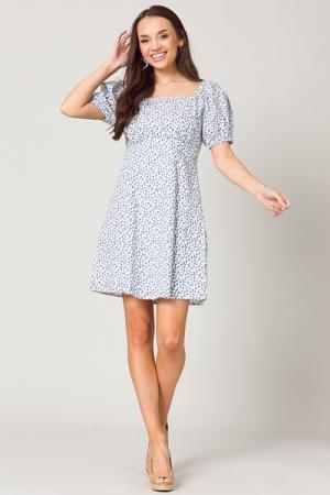 Delaney Ditsy Blue Dress