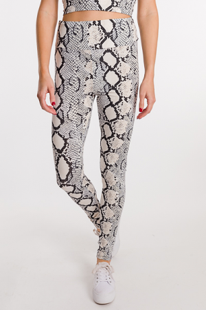 Soft Snake Leggings, Grey