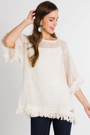Summer Sweetness Fringe Top