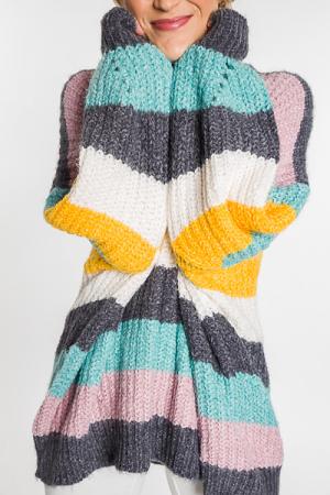 Winter Rainbow Sweater