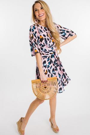 Leopard Lady Dress, Pink