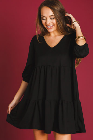 Babydoll Quarter Sleeve Dress