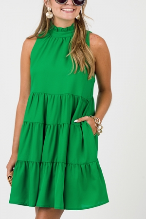 On The Green Dress