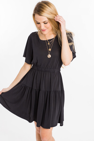 Cinch Me In Dress, Black