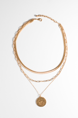Kayla Layers Necklace, Gold