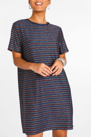 Shining Stripes Knit Dress