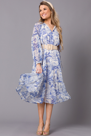 Stacy Chinoiserie Maxi, Blue