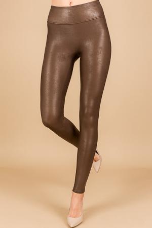 SPANX Leather Legging, Bronze