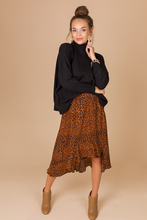 Hi Lo Leopard Skirt
