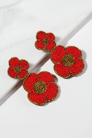 Glam Flower Ear, Red