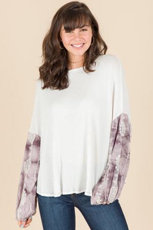 Violet Sleeves Thermal, White