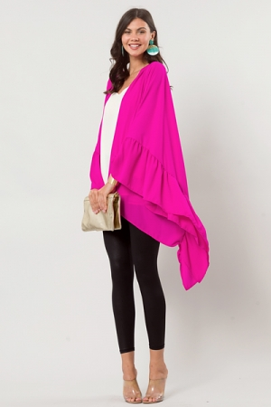 Solid Ruffle Topper, Berry