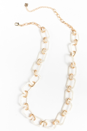 Panama Chain Links Necklace, Ivory