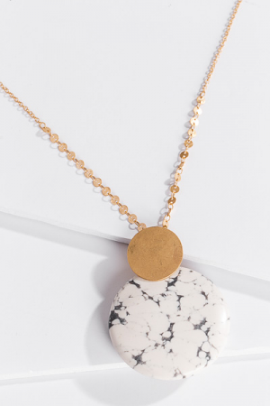 Sun and Moon Long Necklace