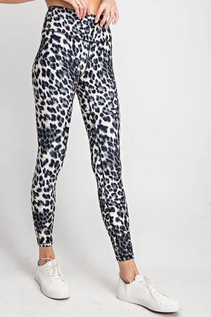 Butter Leggings, Black Cheetah