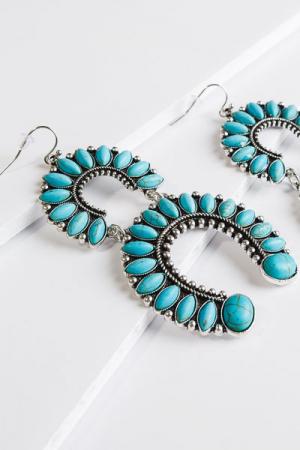 Harris Earring, Turquoise