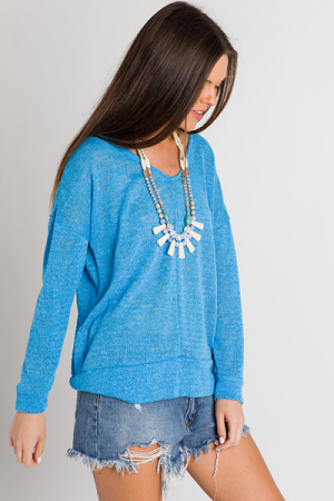 Blue Banded Pullover
