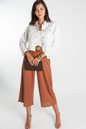 Rusty Smocked Pants