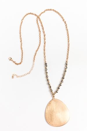 Stryke Teardrop Long Necklace
