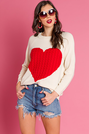 Full Heart Cable Sweater