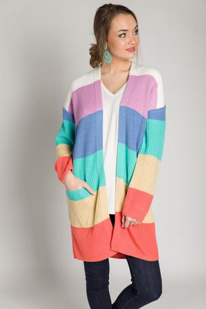 Sherbet Stripes Cardigan