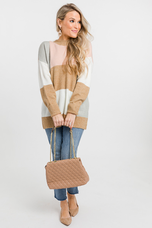 Abstract Blocks Sweater, Blush